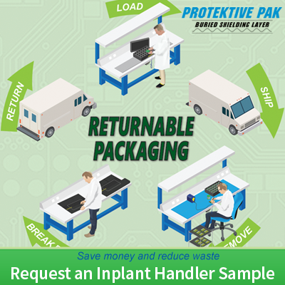 Request a free Reusable ESD Packaging Sample!