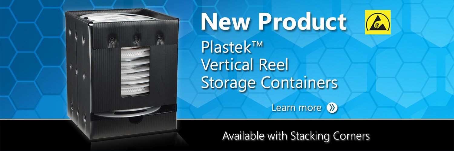 Plastek™ Vertical Reel Storage Containers